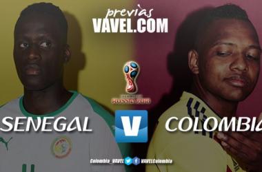 Senegal - Colombia: un cupo en juego. Montaje: VAVEL Colombia.
