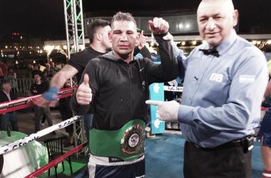 El Yacaré Sequeira uno de los ganadores del fin de semana (Foto: Prensa Argentina Boxing Promotions)