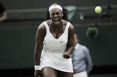 Serena Williams en Wimbledon 2015. Foto: Wimbledon