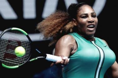 Serena Williams en su encuentro anteTatjana Maria | Foto: Loop PNG