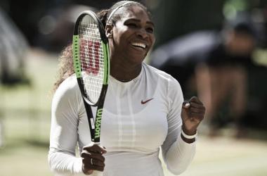 Serena Williams celebra su pase a la final. Foto: Wimbledon