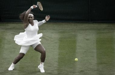 Serena Williams en su último partido oficial. Foto Wimbledon