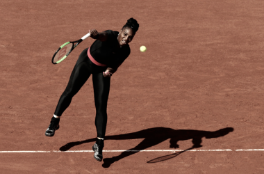 Serena Williams en sus entrenamientos en Roland Garros | Foto: zimbio.com
