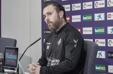 Sergio González en rueda de prensa // Foto: Real Valladolid