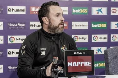 Sergio González en rueda de prensa // Real Valladolid