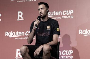 Sergio Busquets en una rueda de prensa. Foto: FC Barcelona