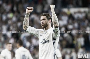 Sergio Ramos celebra una victoria | Foto: Daniel Nieto (VAVEL)