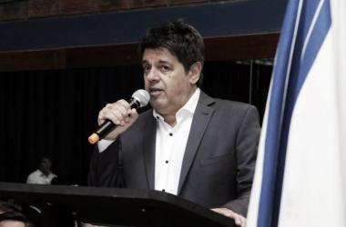 El presidente de la institución de Liniers .   Fuente: Twitter.