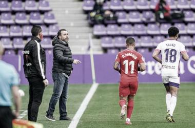 Sergio González en el partido frente al Granada// FOTO: RealValladolid.es