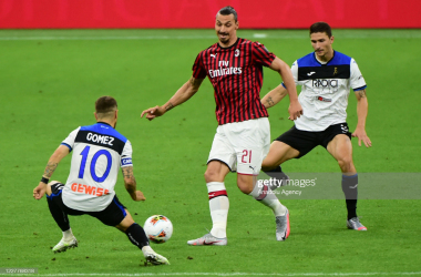Zlatan Ibrahimovic scored twice in AC Milan's last game. (Photo by Pier Marco Tacca/Anadolu Agency via Getty Images)