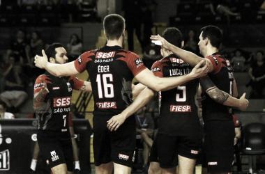 Sesi-SP engatou a quinta vitória na Superliga (Foto: Reprodução/Facebook Sesi-SP)