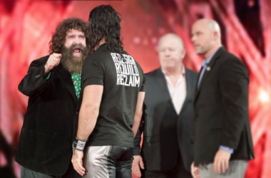 Mick Foley has rushed to the defence of Seth Rollins (image: WWE.com)