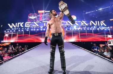 A true WrestleMania moment. Photo- The Sun
