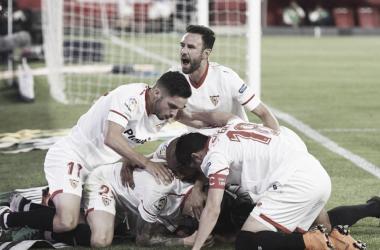 El Sevilla consiguió una victoria con mucha agonía. Foto: SevillaFC.