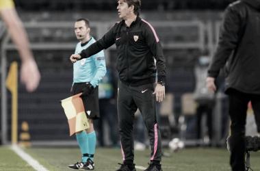 Julian Lopetegui valoriza desempenho do Sevilla mesmo com eliminação na Champions League