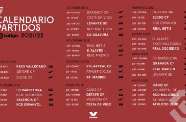 Calendario de LaLiga 21-22