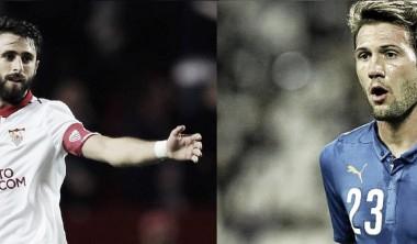 Pareja es indiscutible en Sevilla. Vázquez ya supo representar a Italia en amistosos | Fotomontaje: Huaman Sosa