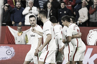 Jugadores del Sevilla FC contra RCD Espanyol | Foto: Sevilla FC