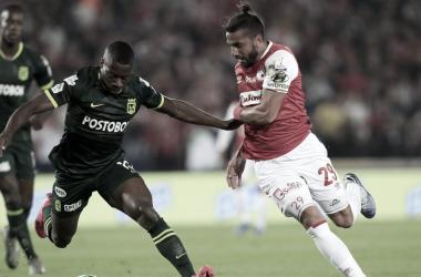 Con empate a dos goles Santa Fe y Nacional terminaron la fecha 8 de la Liga BetPlay