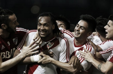 Primer gol del ecuaoriano en La Banda (Foto: River Plate Oficial).