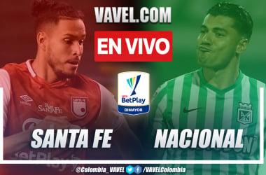 Resumen del partido: Independiente Santa Fe 0-1 Atlético Nacional por la fecha 3 de la Liga BetPlay 2021-II