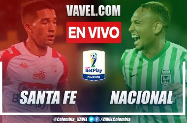 Resumen y goles: Independiente Santa Fe 2-1 Atlético Nacional en la ida de los cuartos de final de la Copa BetPlay 2021