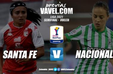 Previa Independiente Santa Fe vs. Atlético Nacional: lucha por el segundo cupo a la final