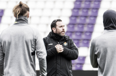Sergio durante un entrenamiento / Real Valladolid