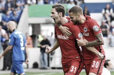 Hrgota's opener one of the only bright sparks for Frankfurt. Image via Eintracht Frankfurt.
