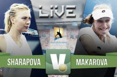 Resultado Ekaterina Makarova - Maria Sharapova en el Open de Australia 2015 (0-2)