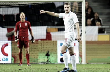 Shawcross on his one and only appearance for England. Photo: PA Images.