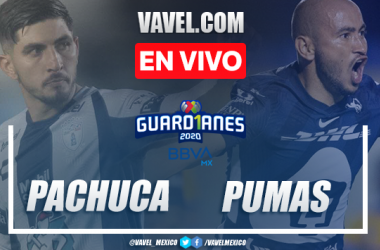 Goles y resumen del Pachuca 1-1 Pumas en Liga MX 2020