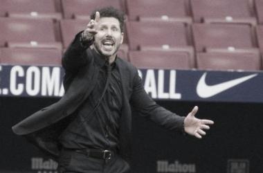 Diego Simeone em Atletico de Madrid 1 a 1 Real Madrid (LaLiga / Divulgação)