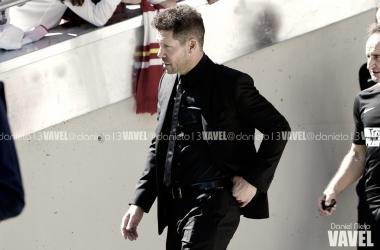 Simeone en el Wanda Metropolitano   Foto: Daniel Nieto (VAVEL)