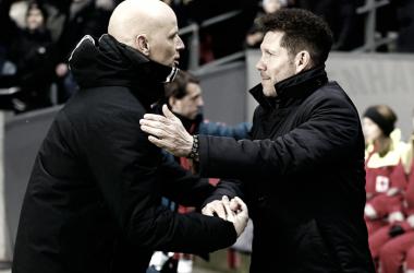 """Simeone: """"El equipo salió decidido a por el partido"""""""