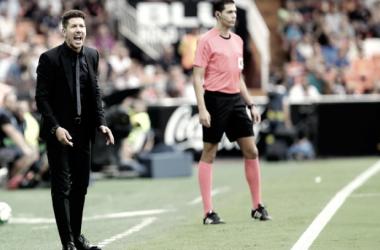 """Simeone: """"Fue un partido muy bueno, sólo nos faltó el gol"""""""