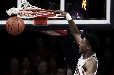 Kobi Simmons leads the bench with 15 points in tonight's victory over Texas Southern. | Photo: tucson.com