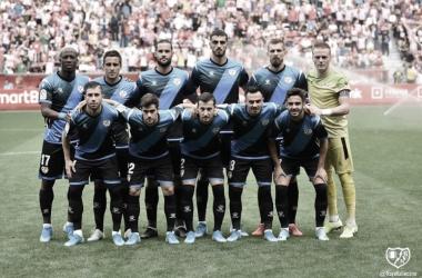 Once del partido ante el Sporting   Foto: Rayo Vallecano S.A.D.