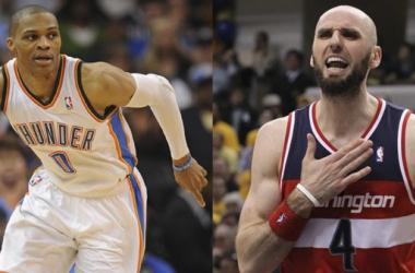 Westbrook y Gortat, Jugadores de la Semana