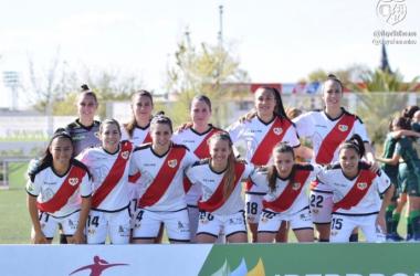 Once inicial del femenino franjirrojo ante las del Real Betis   Fotografía: Rayo Vallecano Femenino
