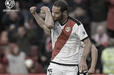 Mario Suárez celebrando su gol ante el Valencia | Fotografía: Rayo Vallecano S.A.D.