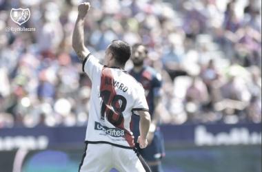 Álvaro García celebrando su gol   foto: Rayo Vallecano S.A.D.