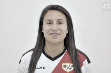 Camila en su foto de presentación   Foto: Rayo Vallecano S.A.D.