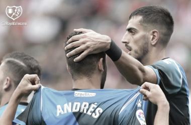 Andrés Martín celebrando su gol | Foto: Rayo Vallecano S.A.D.