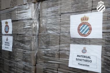 El Espanyol dona 6000 mascarillas