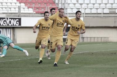 Celebración de un gol | Foto: UCAM Murcia CF
