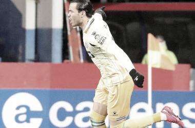 RDT tras marcar ante el Lugo. | Foto: RCD Espanyol
