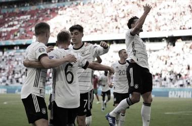 Alemania celebrando un gol / FOTO: UEFA