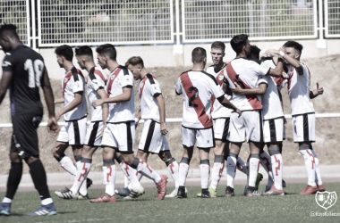 Celebración de uno de los goles ante el Leganés en la Copa | Foto: Rayo Vallecano S.A.D.