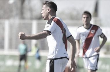 Dani celebrando un gol | Foto: Rayo Vallecano S.A.D.